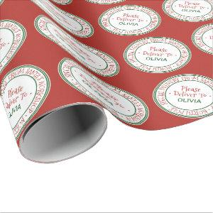 Santa's Workshop Christmas Wrapping Paper