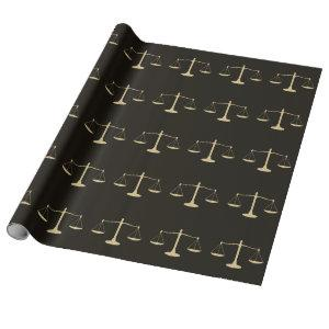 Scales of Justice Wrapping Paper