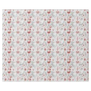 Scandinavian Christmas Forest And Animals Wrapping Paper