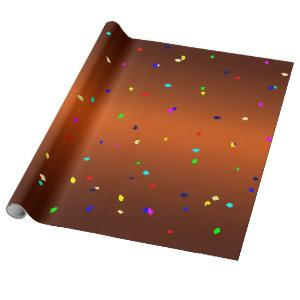 Scattered multi coloured polygons. wrapping paper