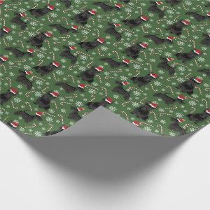 Scottie Dog Christmas Holiday Wrapping Paper