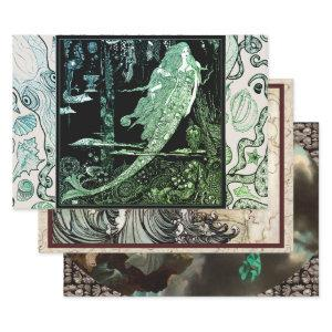 SEA MAIDENS HEAVY WEIGHT DECOUPAGE WRAPPING PAPER SHEETS