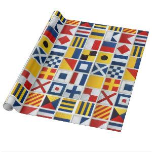 Semaphore Flags Wrapping Paper