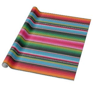 serape print, wrapping paper, baby blue wrapping paper