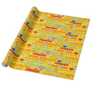 Sesame Pals Celebration Pattern Wrapping Paper
