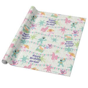Sesame Pals Pi�ata Party Pattern Wrapping Paper