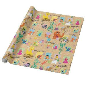 Sesame Street Apartment Windows Pattern Wrapping Paper