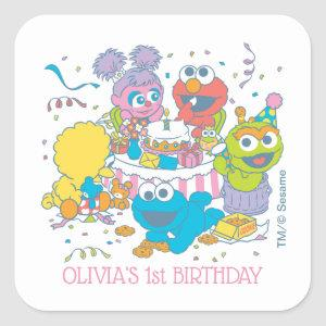 Sesame Street | Baby's First Birthday Square Sticker
