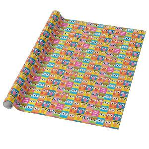 Sesame Street Character Eyes Pattern Wrapping Paper