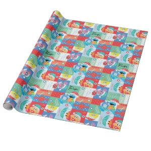 Sesame Street Christmas Pattern | Add Your Name Wrapping Paper