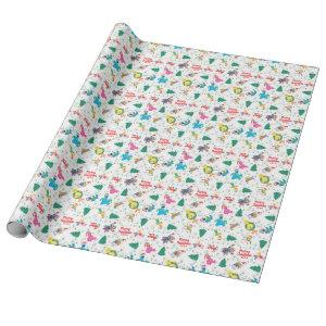 Sesame Street Christmas Tree Pattern Wrapping Paper