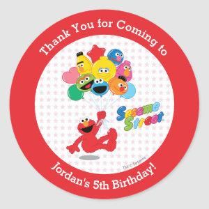 Sesame Street | Elmo and Pals - Birthday Balloons Classic Round Sticker
