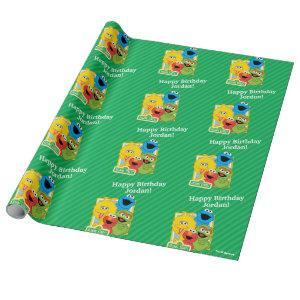 Sesame Street Pals Birthday Wrapping Paper