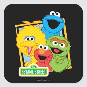 Sesame Street Pals Square Sticker