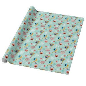 Sesame Street Winter Pattern Wrapping Paper