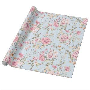 Shabby Chic Floral Wrapping Paper