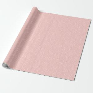 Shabby Chic Pastel Pink & White Polka Dot Pattern Wrapping Paper