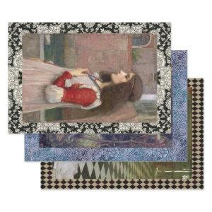 SHAKESPEARES TRAGIC LADIES HEAVY WEIGHT DECOUPAGE WRAPPING PAPER SHEETS
