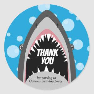 Shark Birthday Stickers