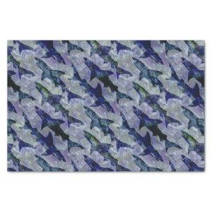 Shark Pattern in Purple and Blue Tissue Paper