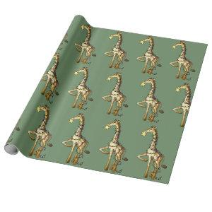 Shiny Giraffe Wrapping Paper
