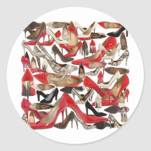 shoes classic round sticker