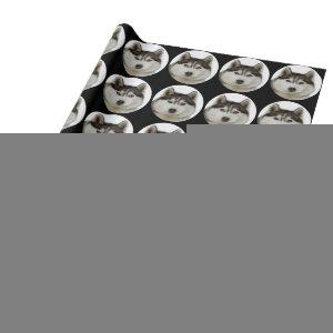 """Siberian Husky dog"" Wrapping Paper"