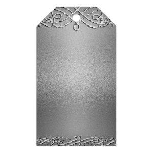Silver Shimmer Glitter Template Background Gift Tags