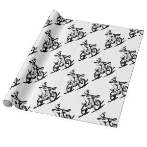 Simple Motorcross Bike and Rider Wrapping Paper