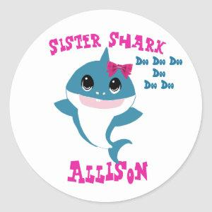 Sister Shark Stickers