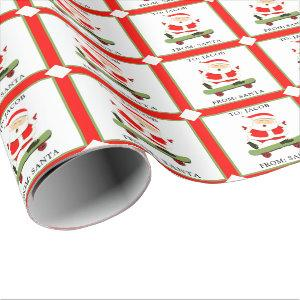 skateboarding Christmas Wrapping Paper