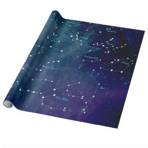 Sky Map Constellations Astronomy Wrapping Paper