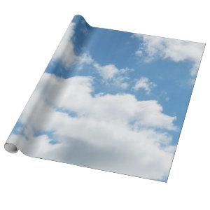 sky, weather, nature, white, blue, cloud, sunlight wrapping paper