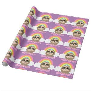 Slothicorn Sloth Unicorn Cute Wrapping Paper