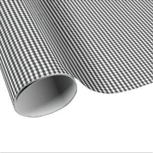 Small Black and White Gingham Wrapping Paper