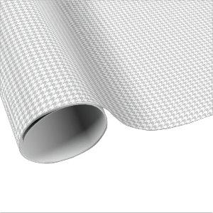 Small Gray and White Houndstooth Wrapping Paper
