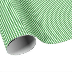 Small Green and White Gingham Wrapping Paper