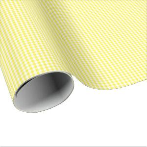 Small Yellow and White Gingham Wrapping Paper