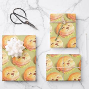 Smile Dog Burger Wrapping Paper Sheets