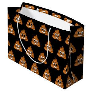 Smiling Poop Emoji gift bag