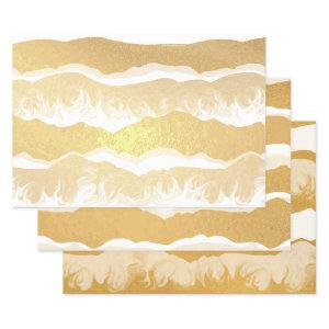 Smoky Mountains Fog Foil Wrapping Paper Sheets