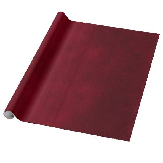 Smudge Burgundy Red Wrapping Paper