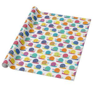 Snail Party Pattern Wrapping Paper