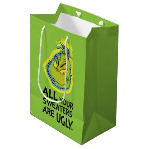 Snarky Grinch | All Your Sweaters Are Ugly Medium Gift Bag