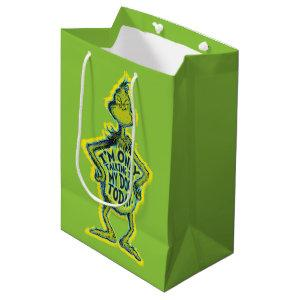 Snarky Grinch | I'm Only Talking to My Dog Today. Medium Gift Bag