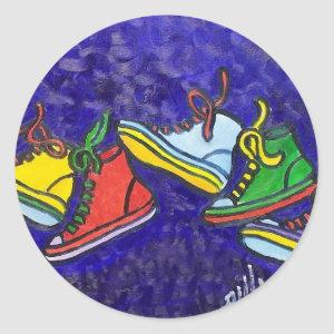 Sneakers Classic Round Sticker