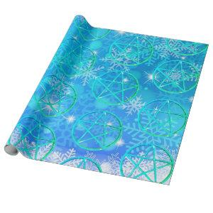 Snowflake and Pentacle Gift Wrapping Paper