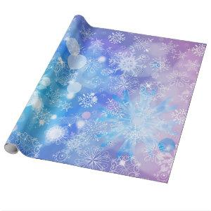 Snowflake Fantasy Wrapping Paper