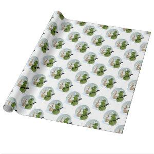 snowman soldier christmas wrapping paper