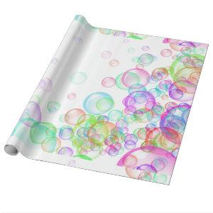 Soap Bubbles Wrapping Paper